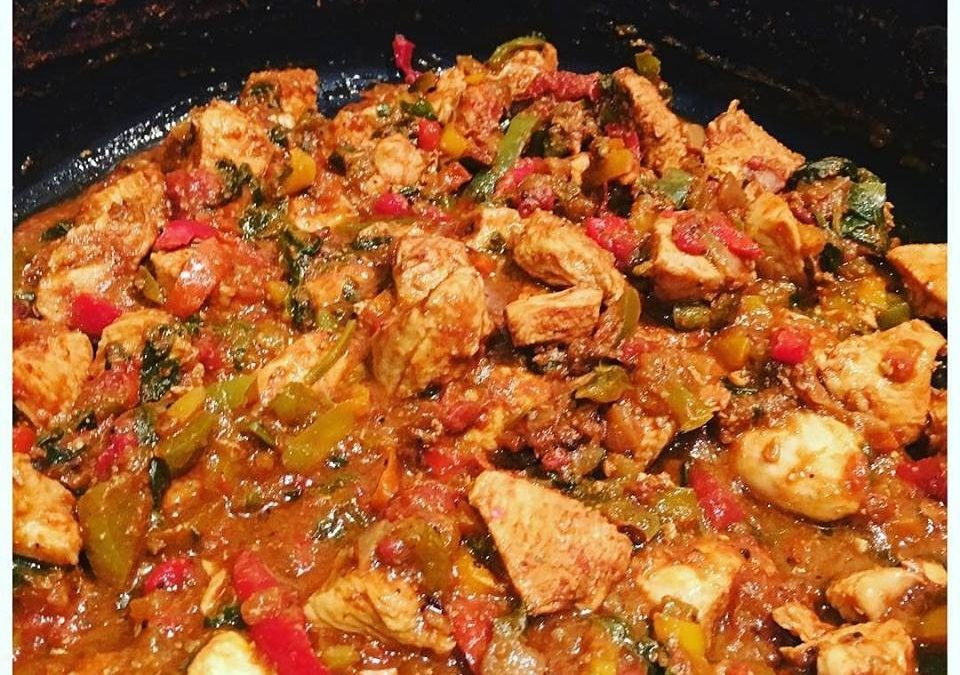 RECIPE: Masala Chicken and Peppers